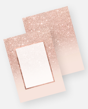 Faux rose gold glitter ombre elegant chic blush pink frame invitation mockup