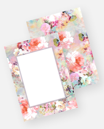 Pastel romantic floral watercolor front frame front invitation template download