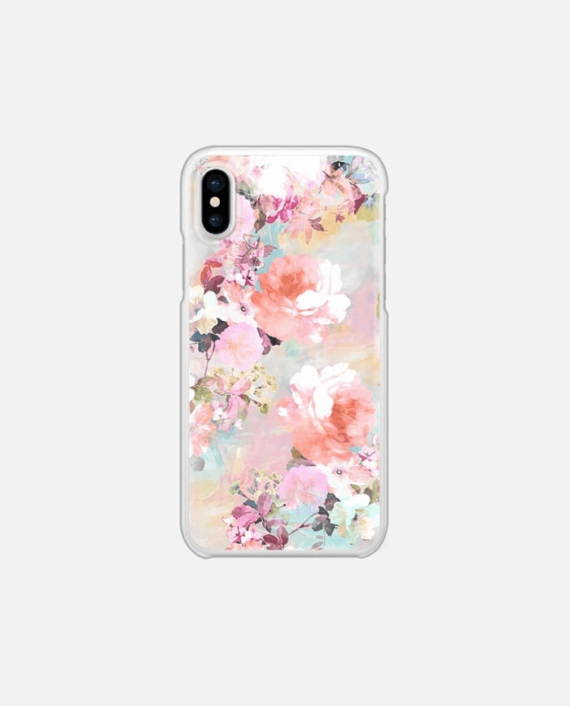 Romantic Pink Teal Pastel Chic Floral Pattern 1