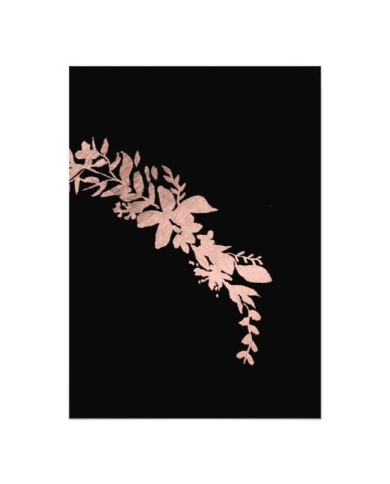 Rose Gold Floral Typography Cheers To The New Year