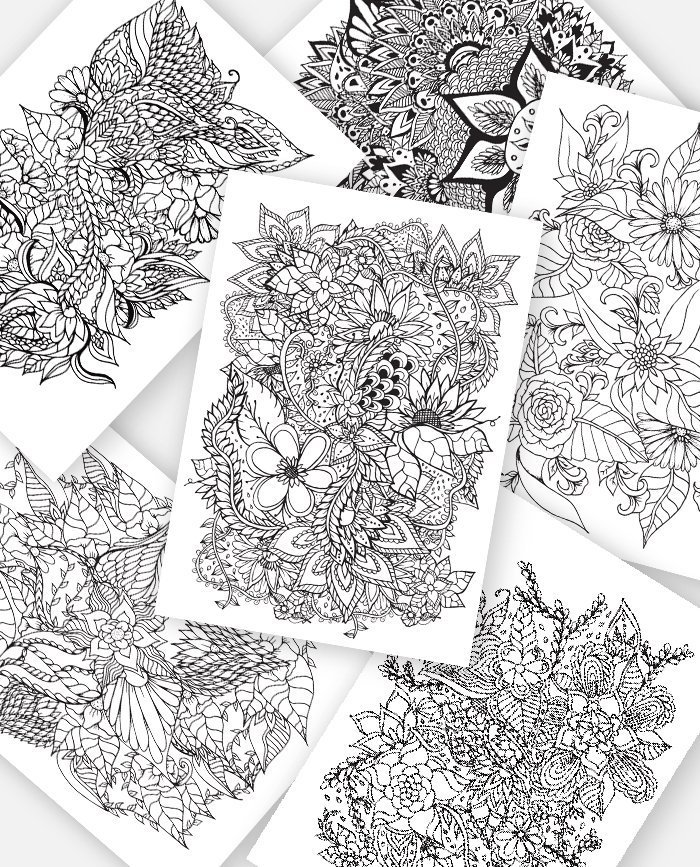 Adult Coloring Pages Instant Digital