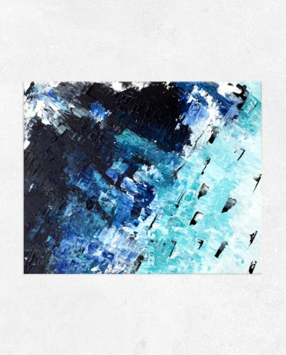 vitamin sea blue white ocean abstract acrylic main painting