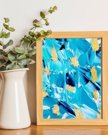 blue acrylic mini frame