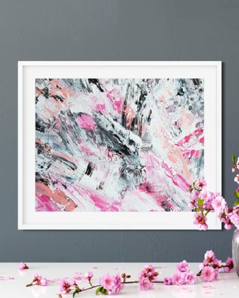 pink white salmon acrylic painting abstract preview
