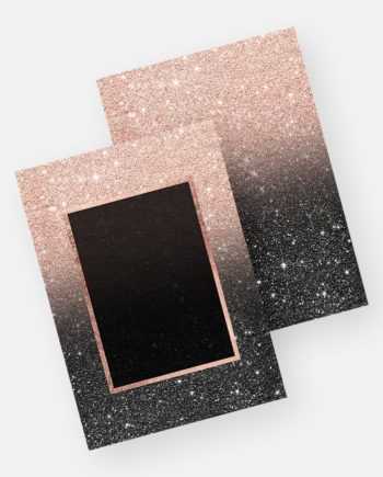 rose gold glitter black glitter ombre invitation preview
