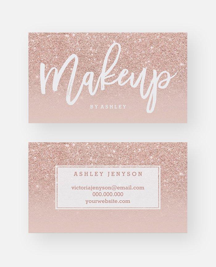 Makeup Artist Elegant Typography Blush
