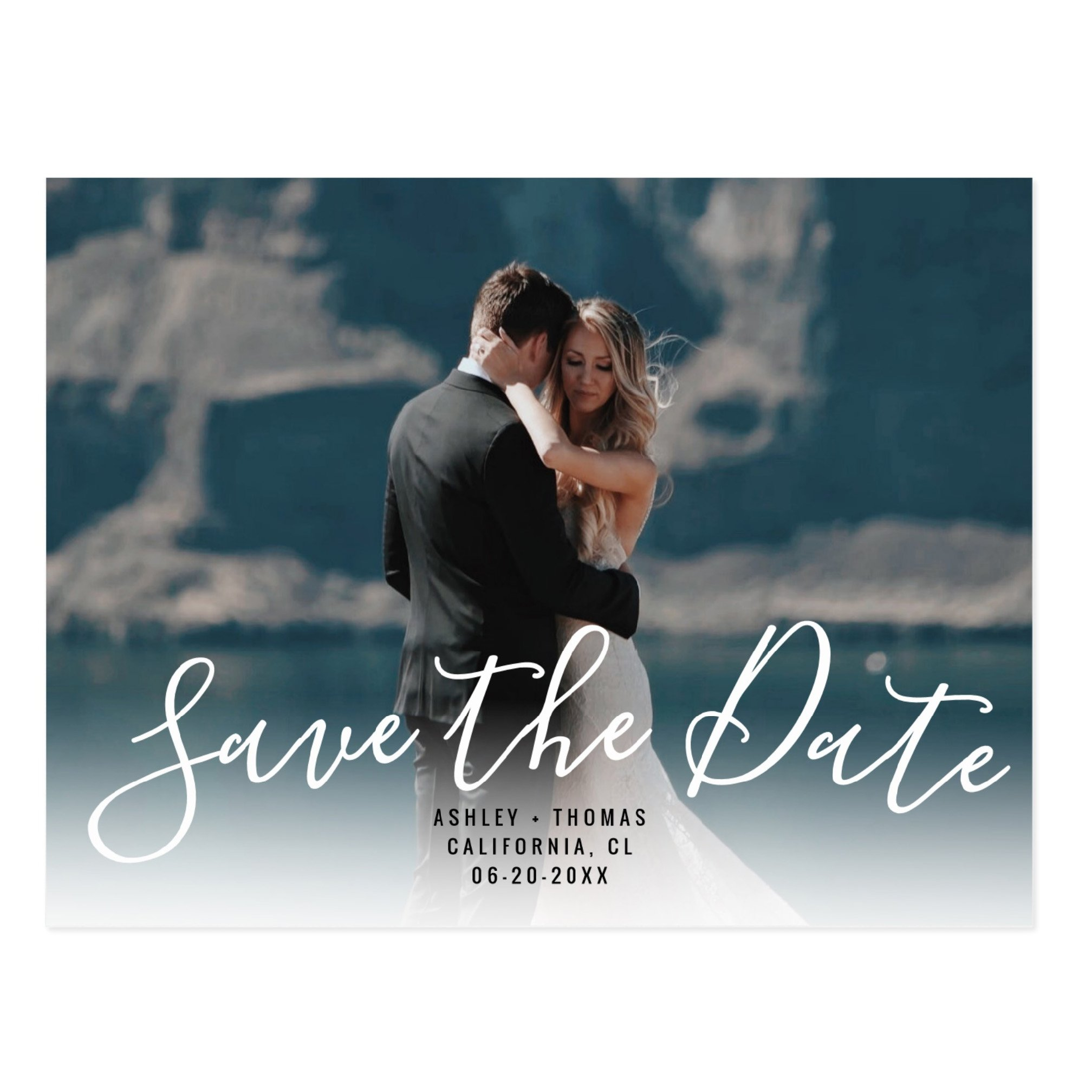Printable Save the date typography Upload your photo preview zazzle