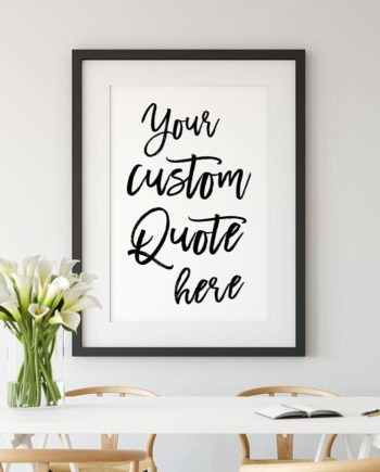 Your custom quote black white m preview