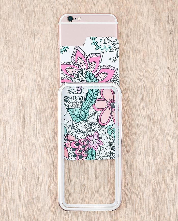 Diy Clear Transparent Rose Gold Iphone 66s Case Free Coloring Design