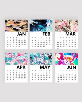montlhy yearly 2019 calendar acrylic 1