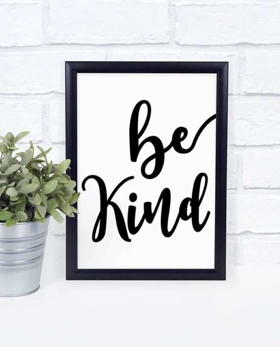 printable quote Be Kind printable typography