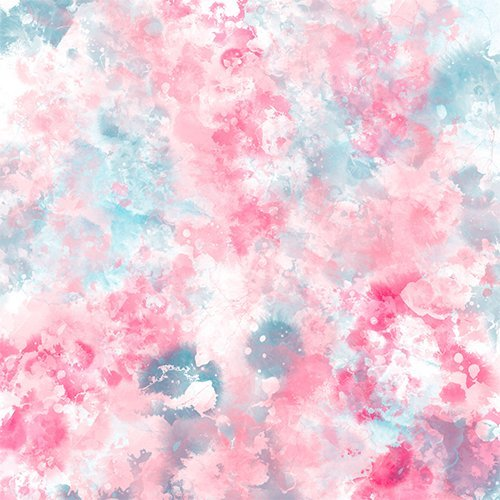 Modern Christmas pastel pink ice blue watercolor