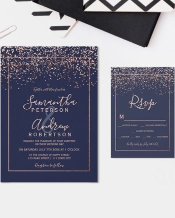 INVITATION suite wedding and rsvp