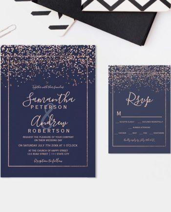 INVITATION suite wedding and rsvp