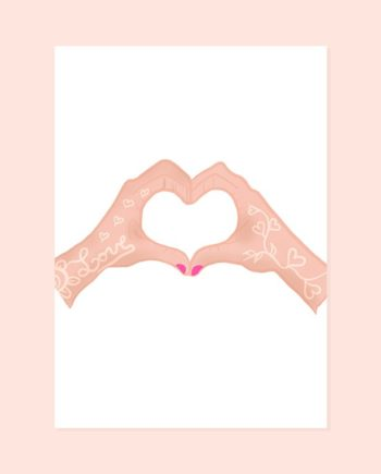 Love hands illustration St Valentine