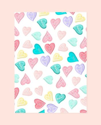 Sweets pastel love hearts pattern