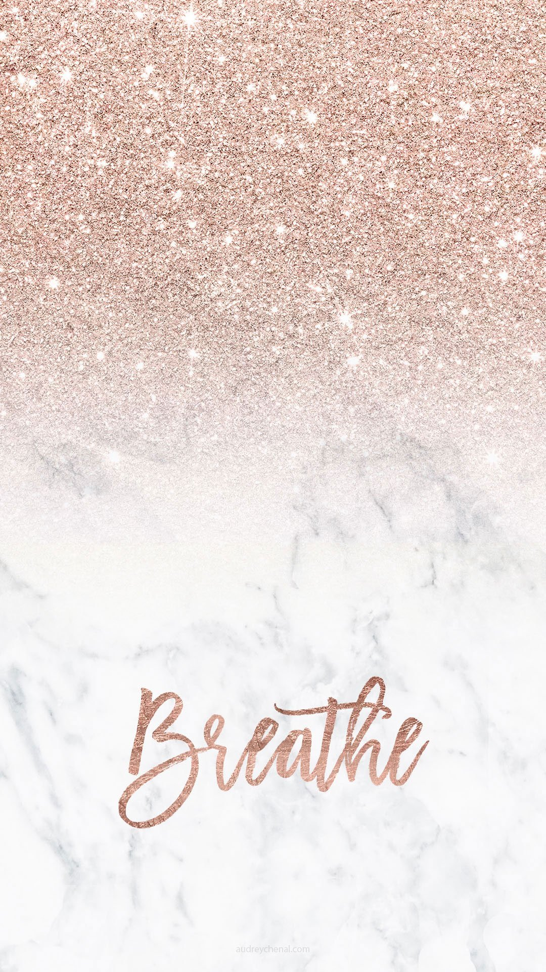 trendy-smartphone-wall-paper-rose-gold-breathe-glitter-ombre-white-marble-by-Audrey-Chenal