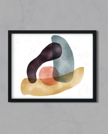 Balance modern abstract geometric shapes watercolor