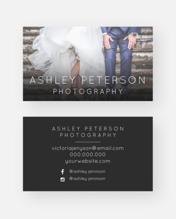 Simple wedding photography minimal typography business card preview