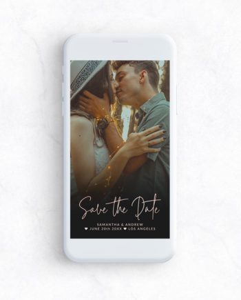 phone mockup save the date upload photo