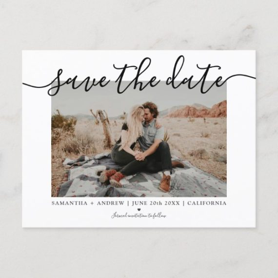 save the date photo announcement