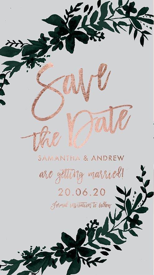 save the date faux e invite preview