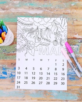 march coloring page free calendarpreview