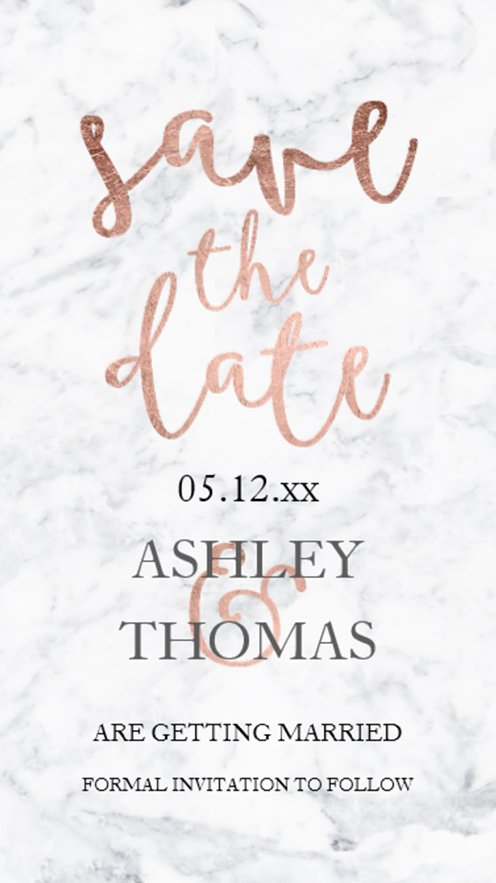 save the date rose gold marble preview2