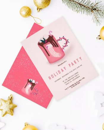 Cute christmas mug invitation preview mockup