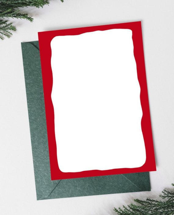 Have a merry wonderful Christmas tree gold on red Holiday Card back preview