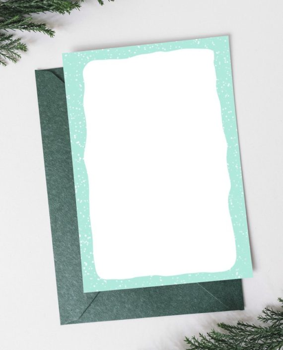 Merry Christmas script pastel watercolor wreath back preview