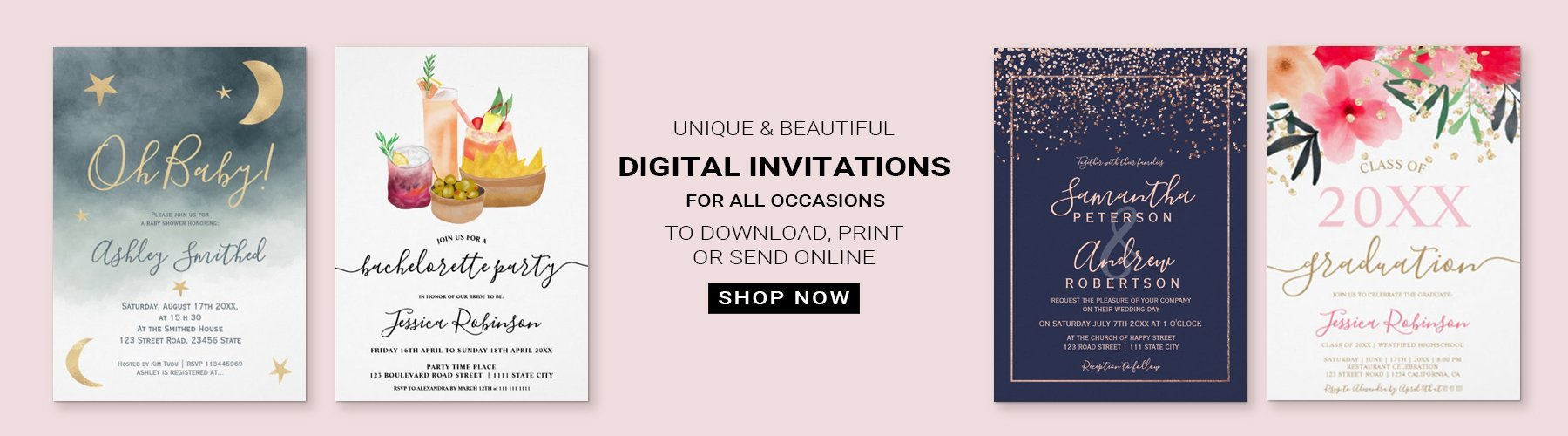 Digital printable invitations
