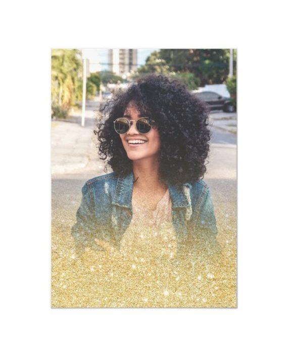 gold glitter class of photo graduation invitation back preview2