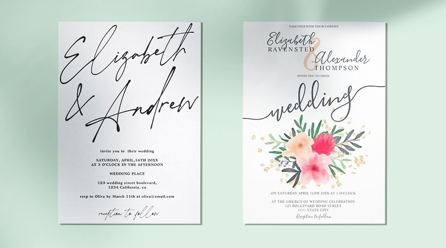 wedding frame invite
