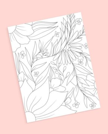 Floral 6 coloring page Audrey Chenal