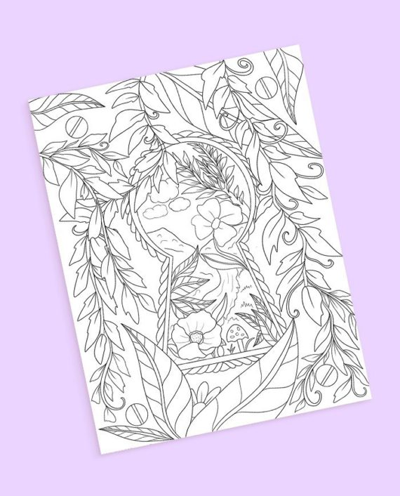 fairy tale coloring page preview