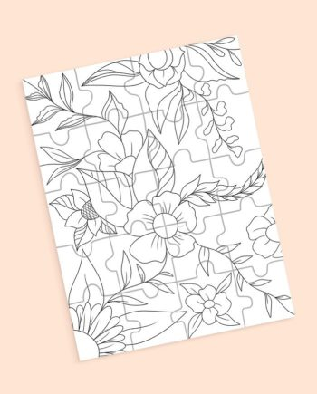 coloring page puzzle
