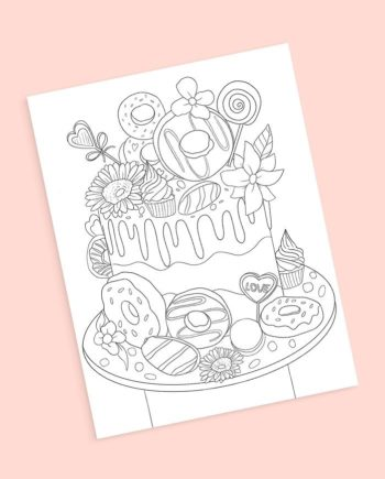 coloring pages cakes donuts review