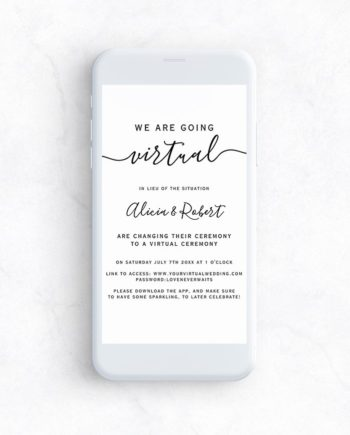 e invite phone mockup virtual wedding