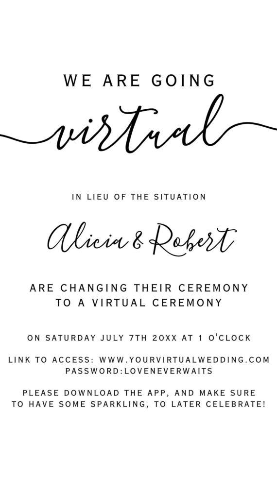 e invite template black white virtual