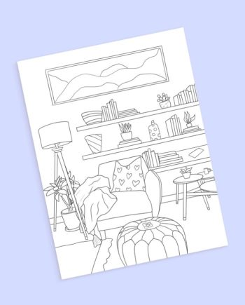 living boho decor preview coloring