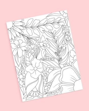 preview floral mix coloring