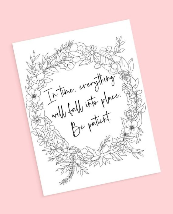 preview quote floral coloring