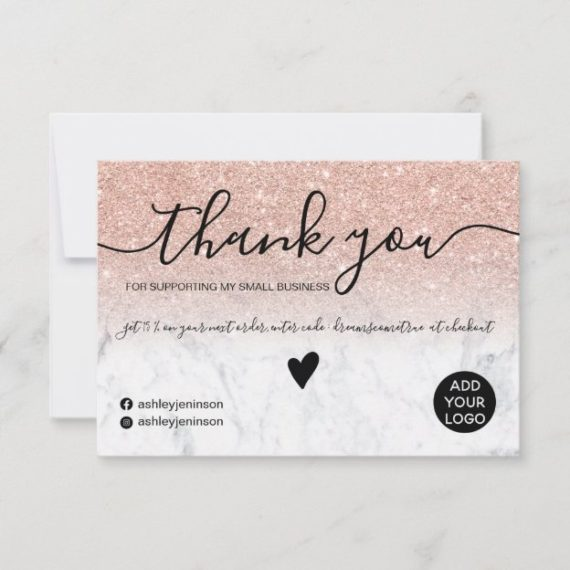 modern_rose_gold_glitter_marble_order_thank_you-