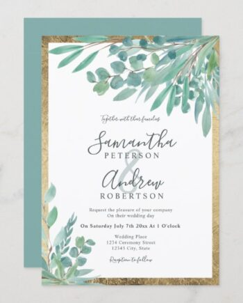 summer_eucalyptus_floral_watercolor_gold_wedding_invitation